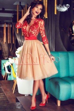 rochie de seara eleganta dantela albastra inpuff ro rochii de seara haine camasi colanti bluze dama coctail dress short glamour dress fashion classy pinterest