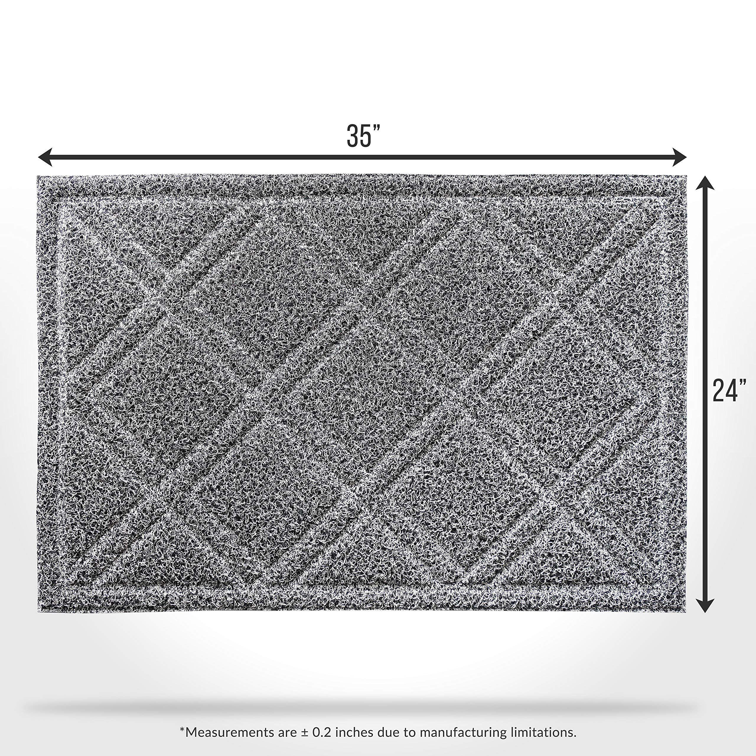 welcome doormat rug outside patio