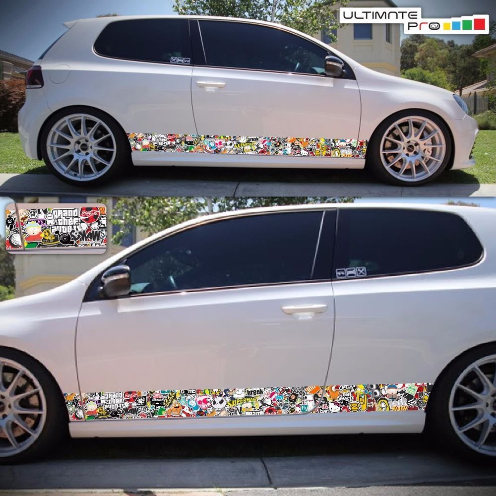 Sticker bomb decal set for vw golf r mk 5 6 7 body kit jetta spoiler fender lip ultimateprocy1