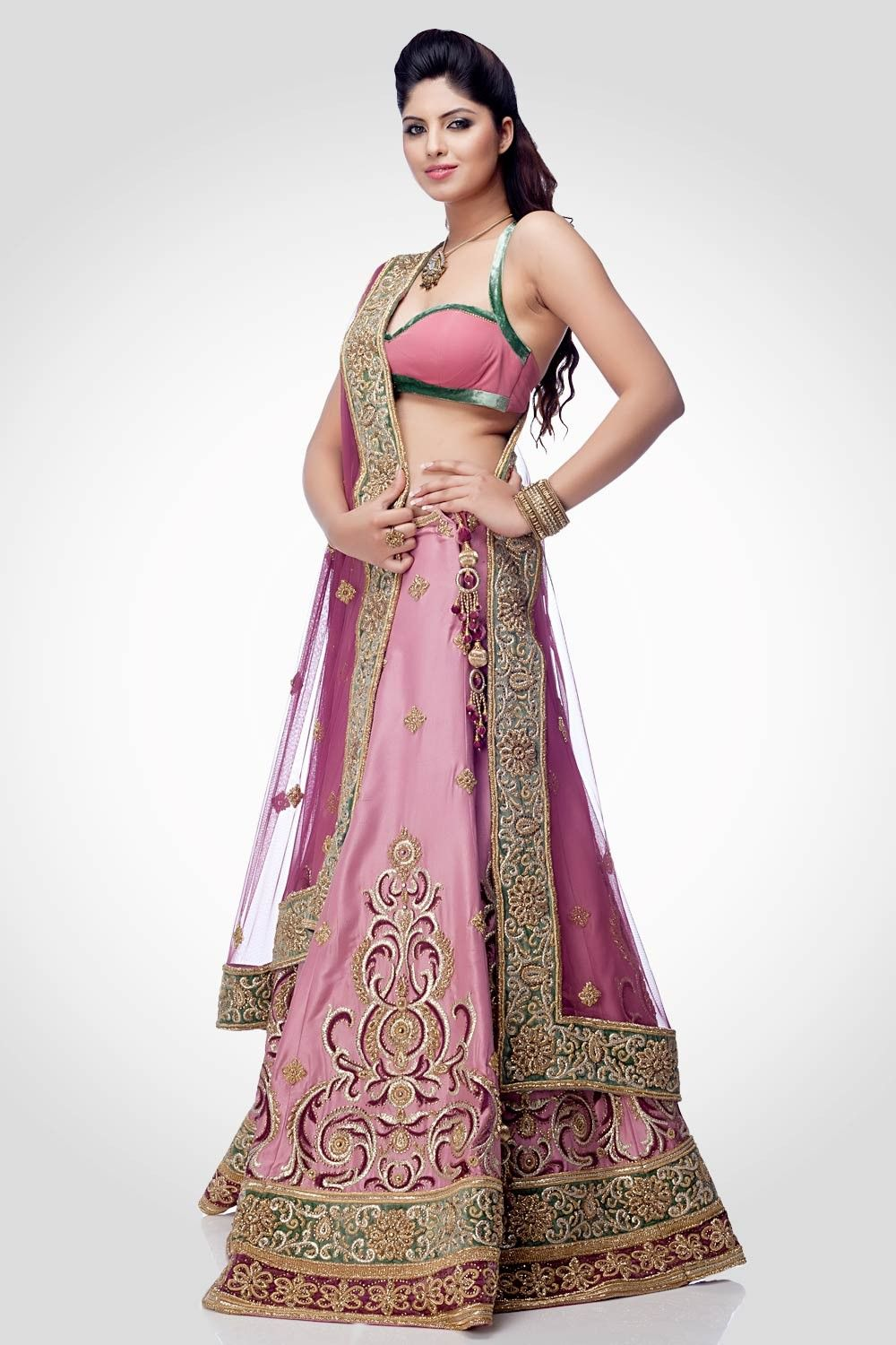 Pink embellished dupion lehenga indian dress pinterest