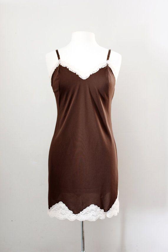 Full Slip Medium Slip Dress White Nylon No Tags  Vintage Lingerie