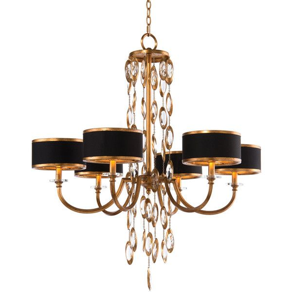 John-Richard Collection Black Tie 6-Light Chandelier (2 245 AUD) ❤ liked on Polyvore featuring home, lighting, ceiling lights, lamps, multi colors, black chandelier lamp, colorful chandelier, chain chandelier, multi color chandelier and black chandelier lighting