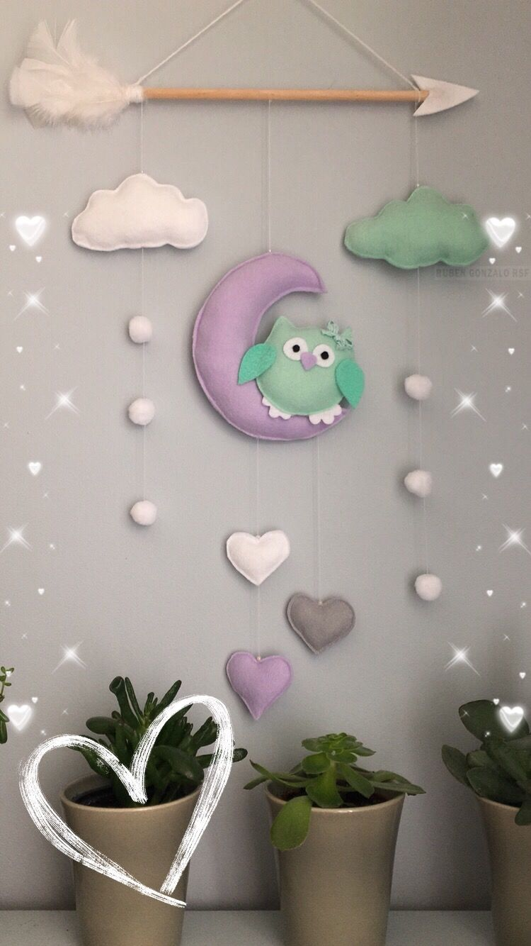 Walldecor Wall Kids Owl Handmade Sewing Baby Nursery Decor
