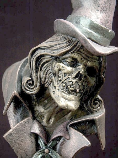 Model Sculpture of Hatbox Ghost for Guillermo del Toro's 'Haunted Mansion?'