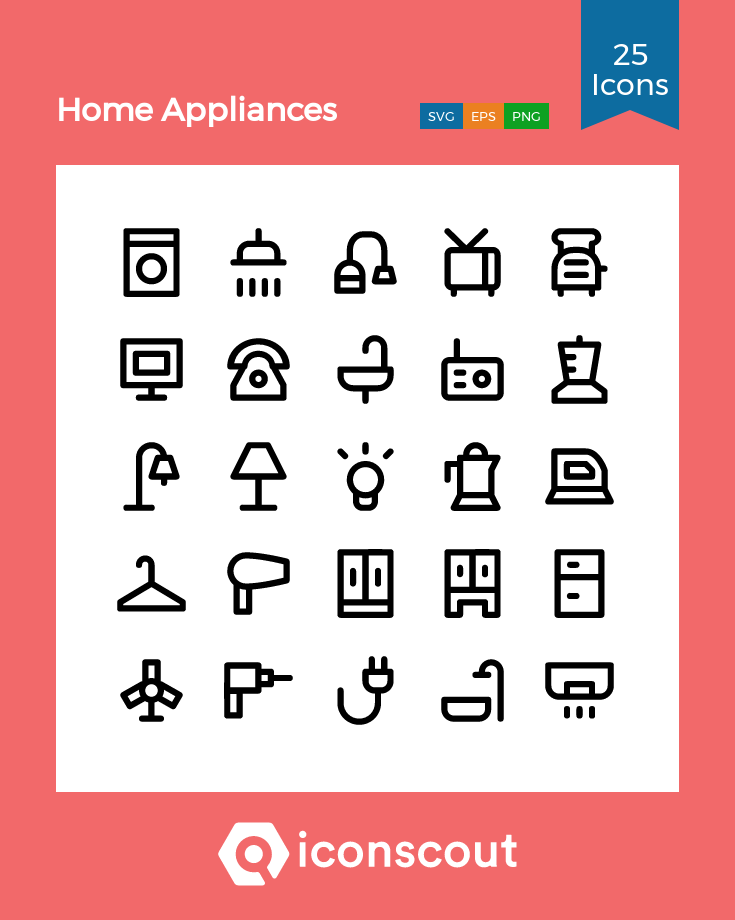 Download Home Appliances Icon Pack Available In Svg Png Eps Ai Icon Fonts Appliance Logo Home Appliance Store Appliances Design