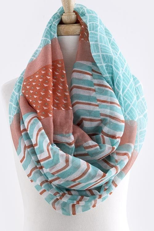 This scarf is sure to become a staple in your warm weather wardrobe ...