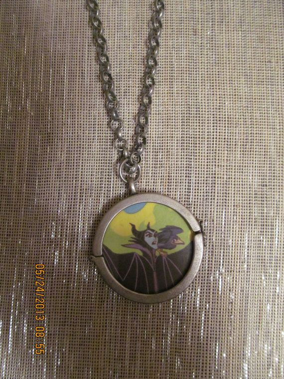 Evil Maleficent double sided pendant