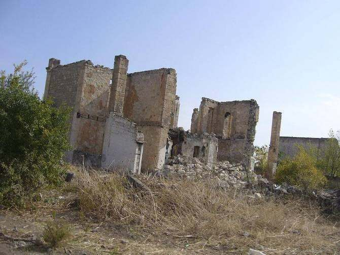 Agdam,Azerbaijan - Agdam was the scene of fierce fighting during the Nagorno-Karabakh War. According to journalist Robert Parsons, Agdam was used by Azerbaijan as a base for attacks on Karabakh, launching GRAD missiles and bombing raids from there against civilians.