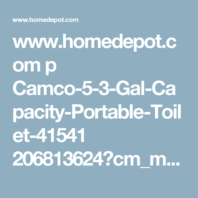 Camco 5 3 Gal Capacity Portable Toilet 41541 Portable Toilet Camco Biodegradable Products