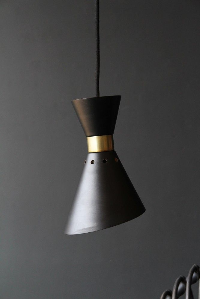 Grace black gold pendant light from rockett st george