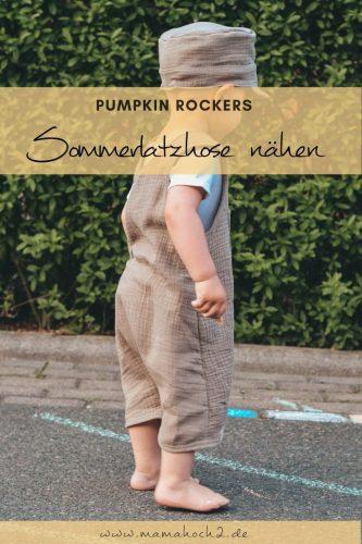 Pumpkin Rockers goes Sommer - Nähanleitung für eine kurze Latzhose ⋆ Mamahoch2