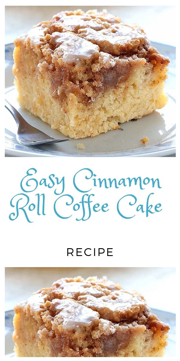 Easy Cinnamon Roll Coffee Cake Recipe in 2020 Easy cake