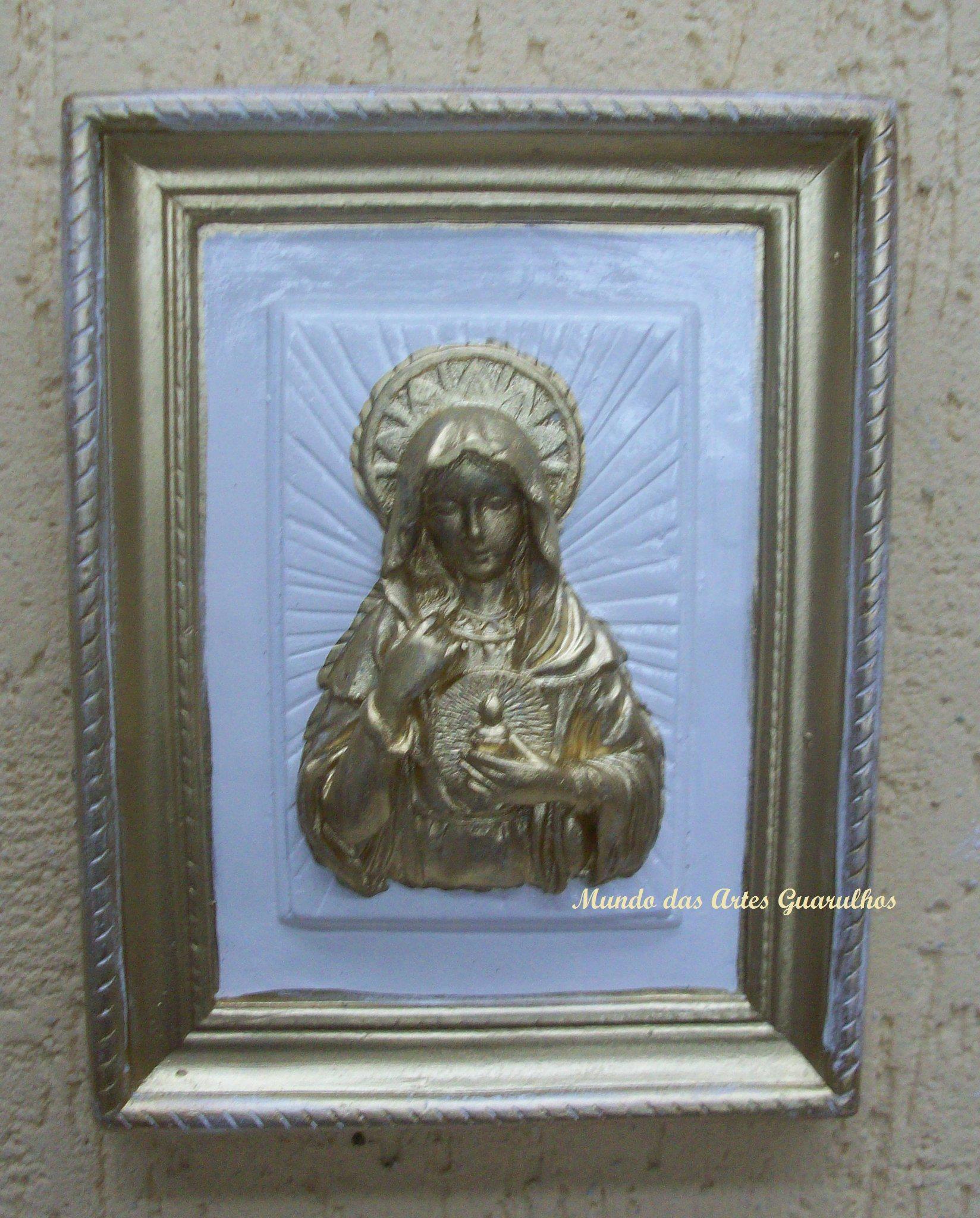 Sagrado Coração de Maria Placa em gesso de parede
