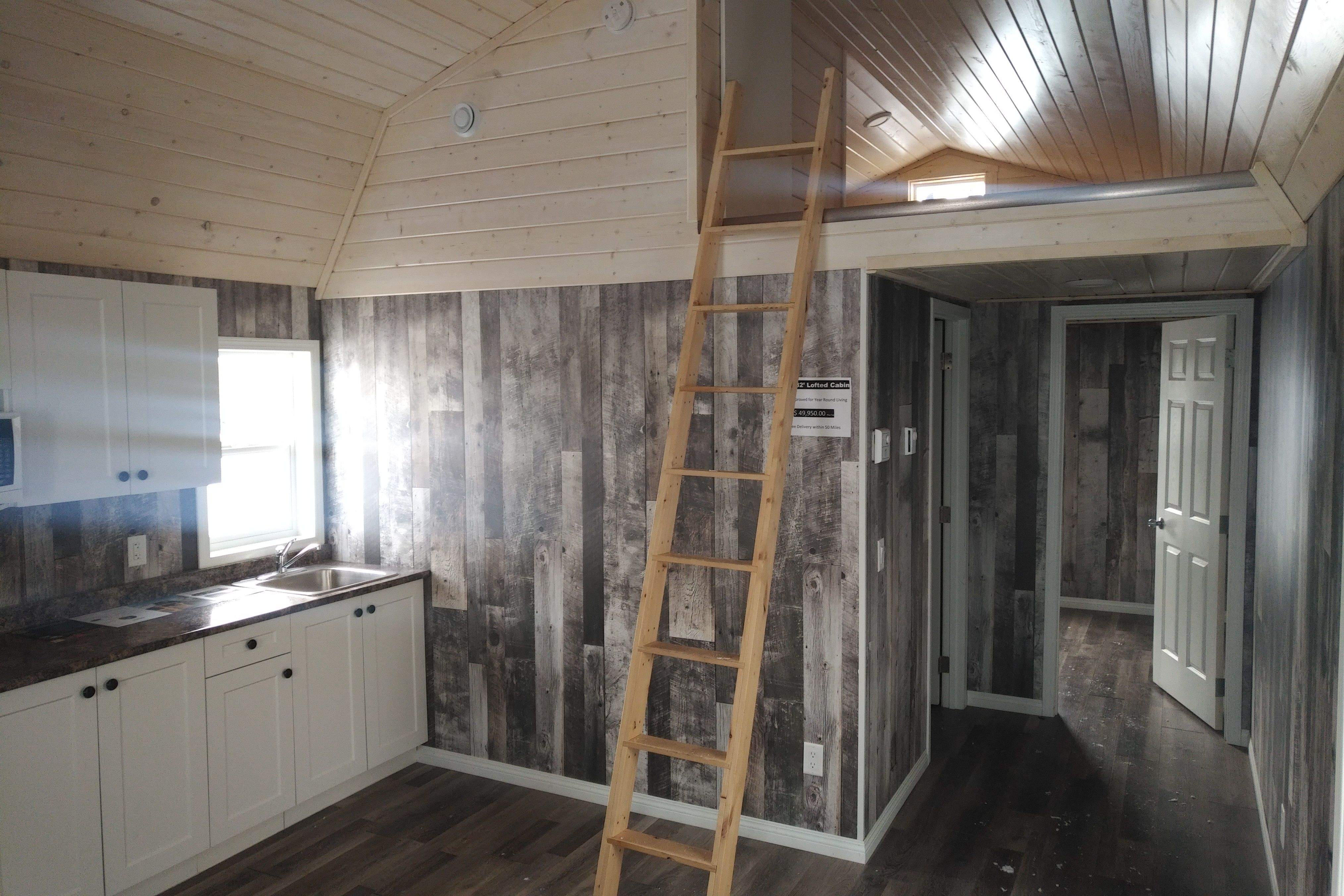 14x32 Lofted Barn Cabin Shed To House Conversion From Premier Portable Buildings Shed To Tiny House Tiny House Loft Shed Homes