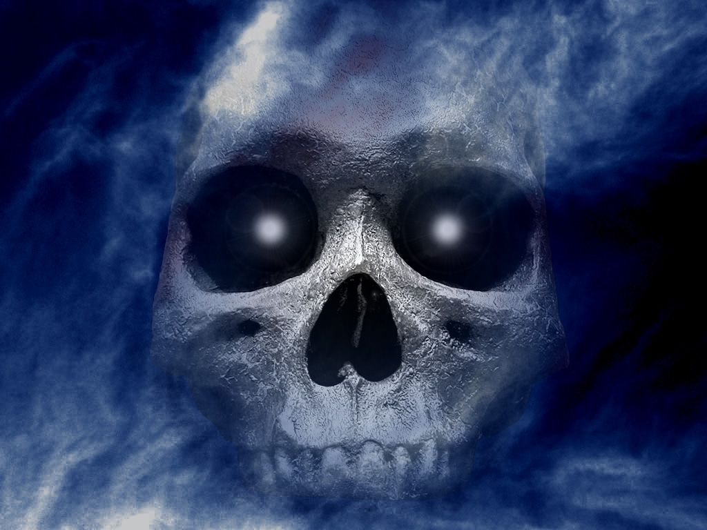 Uncategorized Scary Halloween Skulls cool skull blue and black designs pics wallpaper with 1024x768 halloween skullscary