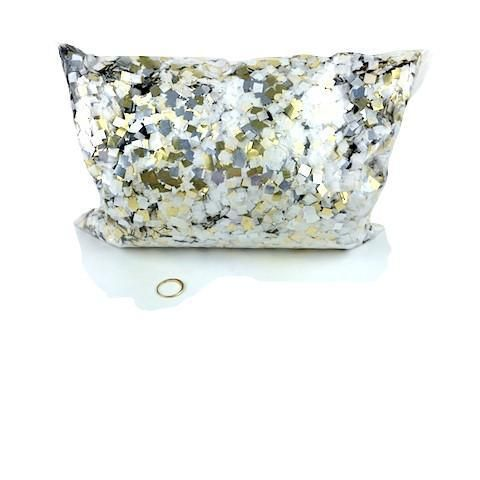 MiniFetti - Flashy Silver, White & Gold Squares by the Pound