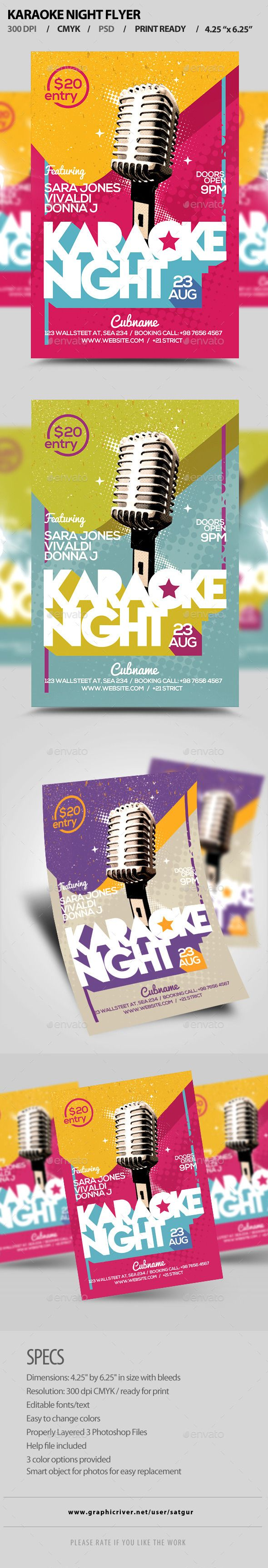 Karaoke Night Flyer V  Karaoke Photoshop And Flyer Design Templates