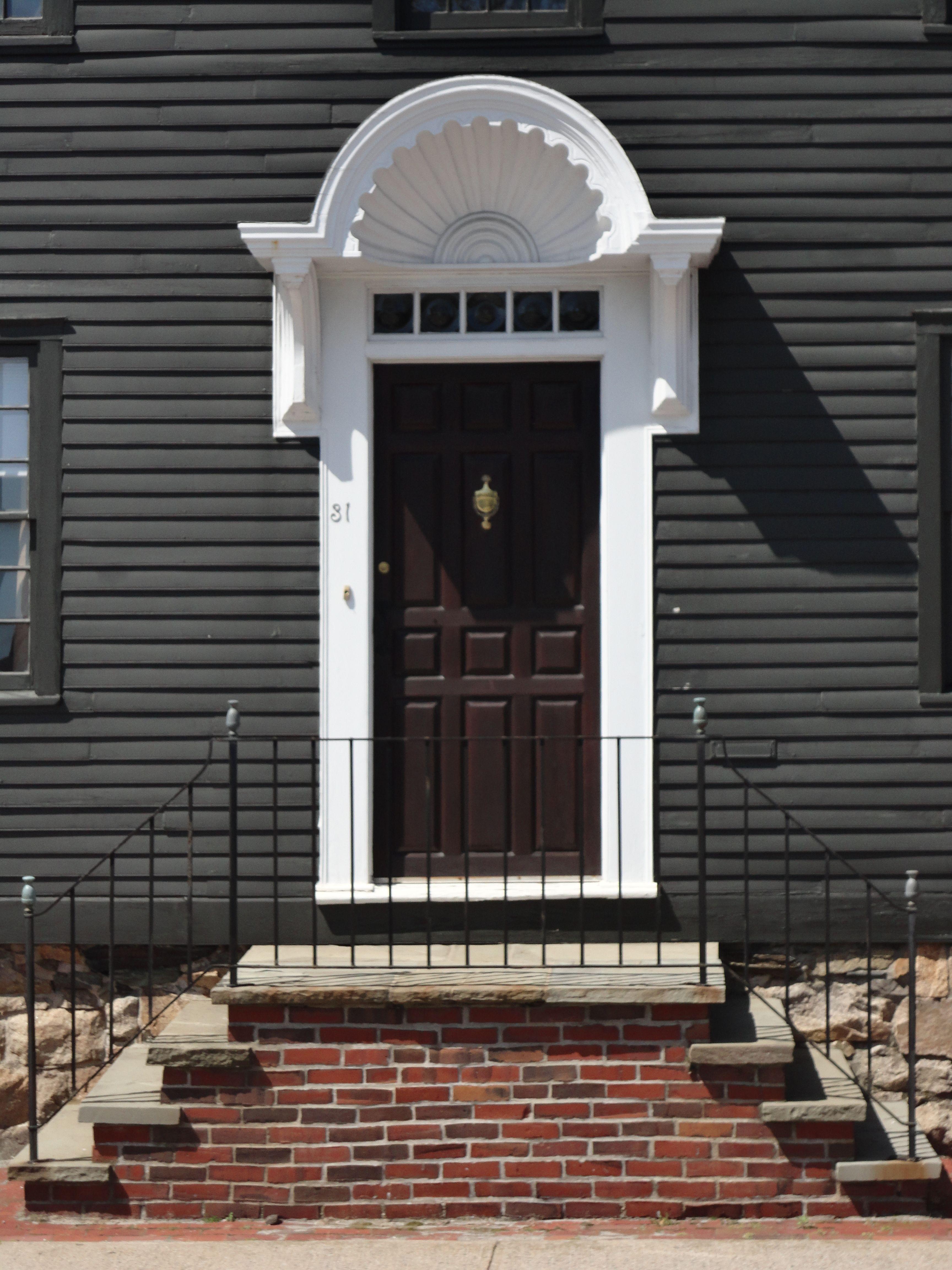 Newport Rhode Island Historic Door Detail Scallop Shell Entry & Newport Rhode Island Historic Door Detail Scallop Shell Entry ...