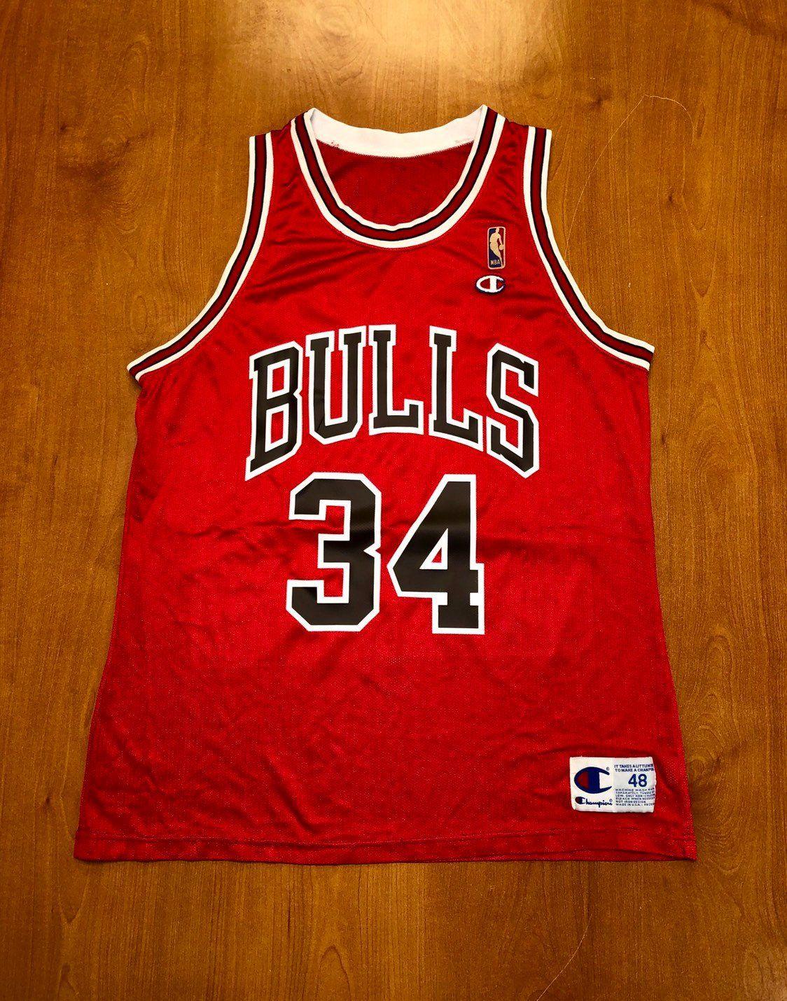 Vintage 1994 Bill Wennington Chicago Bulls Champion Jersey Size 48 nba  finals hat shirt scottie pippen michael jordan st.john s team canada by ... 27b114b59