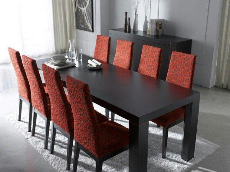 Decoracion Interiores: 37 Ideas De Comedores Modernos  . Black Dining Room  ChairsRed ...