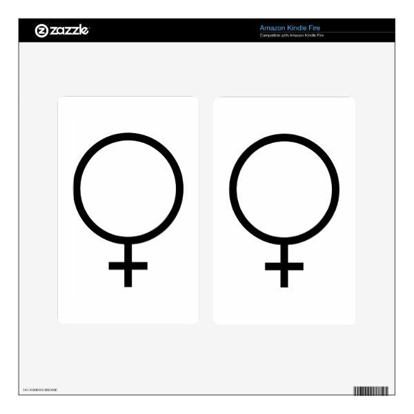 Female Symbol Skin For Kindle Fire Symbols
