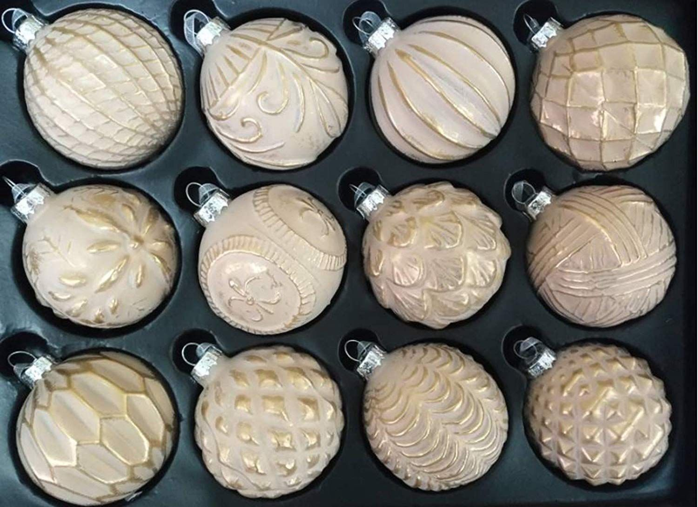 Christbaumkugeln Amazon.My Goodbuy24 12er Set Luxus Weihnachtskugeln Echtglas