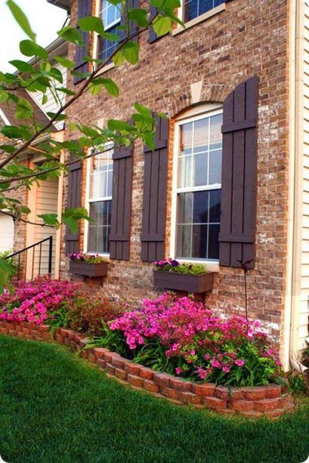 80 Fresh and Beautiful Front Yard Flowers Garden Landscaping Ideas With images   Flower bed ...