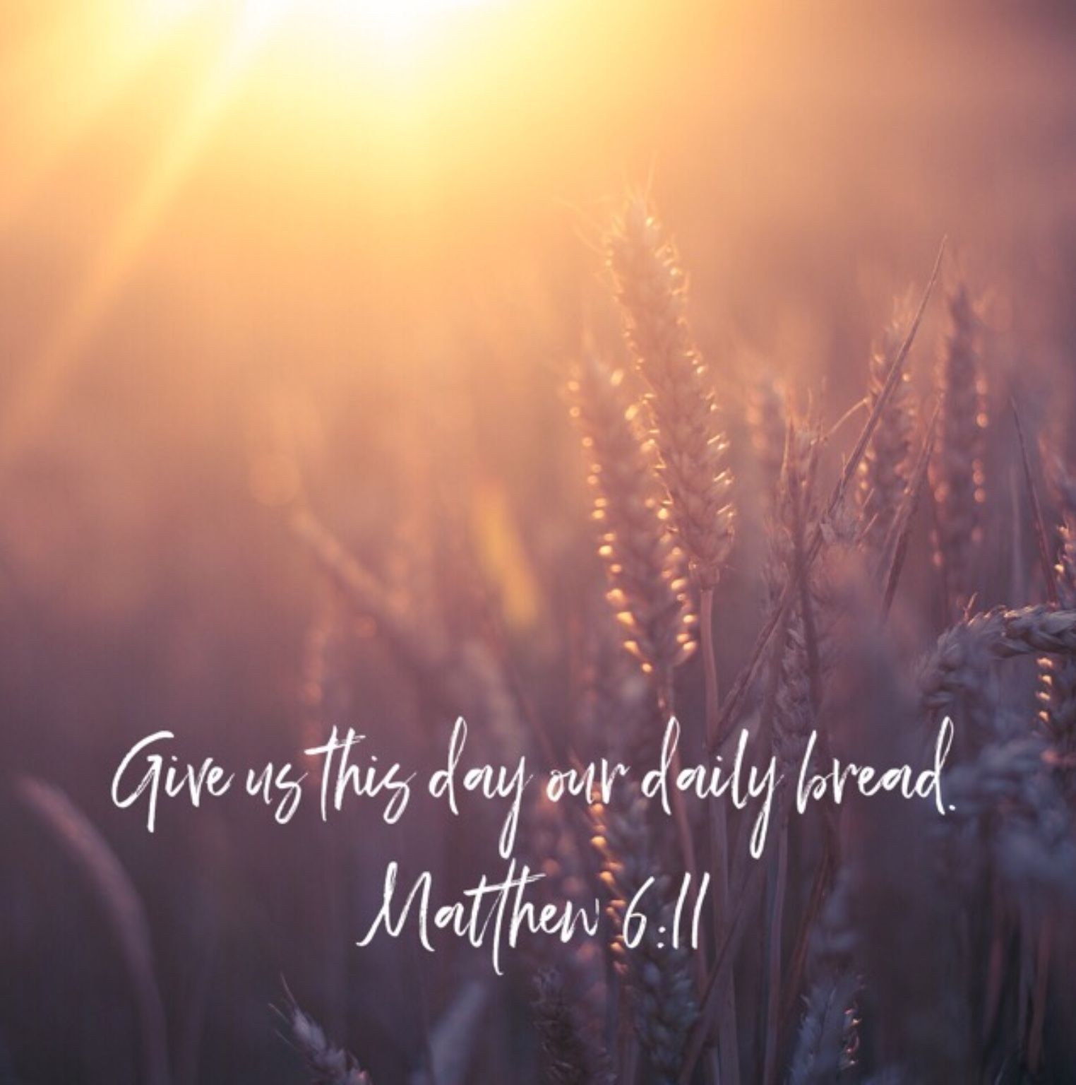 Give us this day our daily bread matthew 611 psalm 35