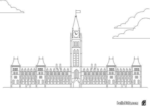 Canada Parliament Coloring Page