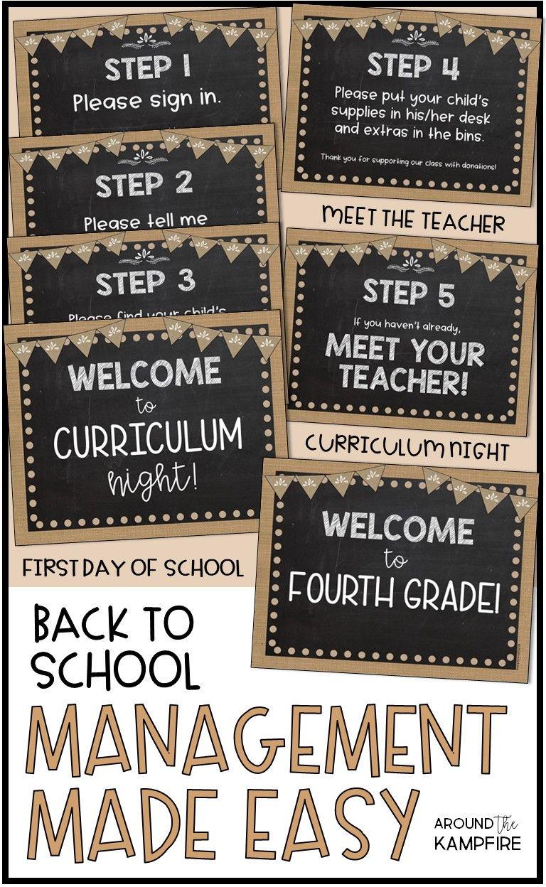 Back to School Meet the Teacher, Curriculum Night, First Day BUNDLE