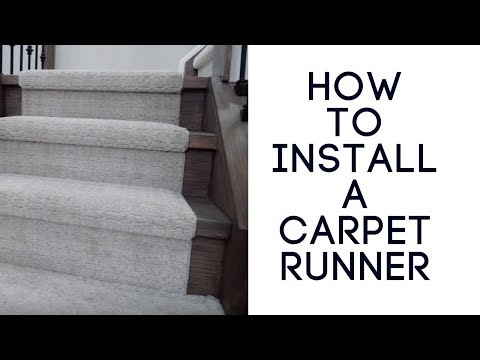 Installing A Carpet Runner On Stairs The Right Way Youtube In