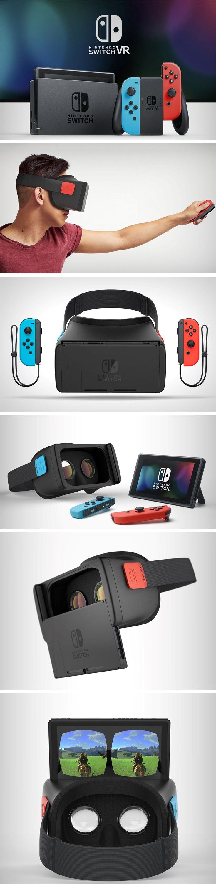 The Nintendo Switch VR needs to be a reality! it's perfectly built to fit well into the VR case, and comes with detachable controllers, making it perfect for its use.