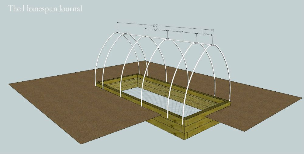 DIY Garden Bed With Hoop Frame   Ana White