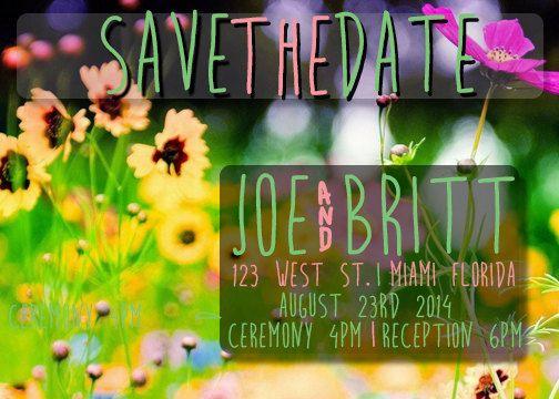Floral+Garden+Save+The+Dates++Custom+Made+by+Creativeintricacies,+$12.00