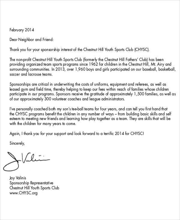 letter sample tryout rejection sports team sponsorship pics photos - thank you letter examples pdf