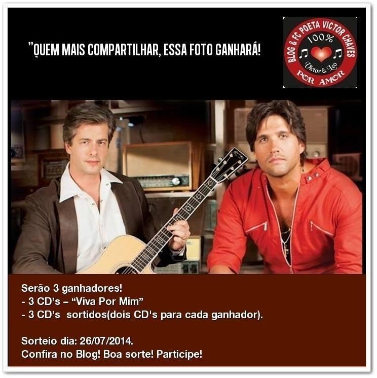 """Blog Poeta Victor Chaves Por Amor: Novo sorteio em dose dupla! """"CDs VIVA POR MIM """" de..."""
