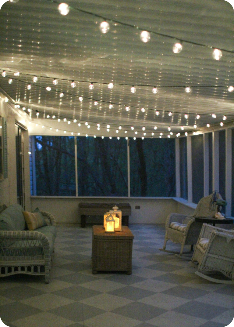 Simple Screened Porch Light Outdoor String Lights Make Everything Look Pretty And Are Easy To Install