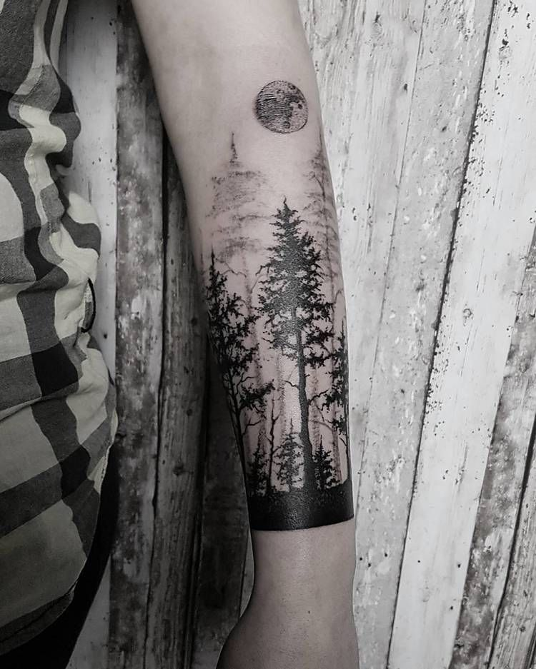 40 Creative Forest Tattoo Designs and Ideas Nature
