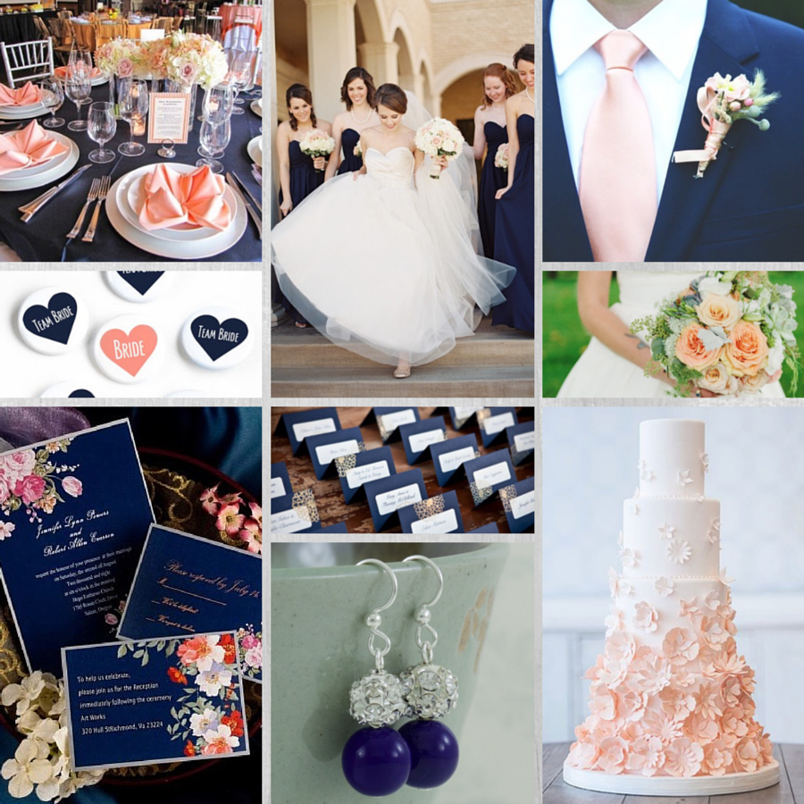 Navy+and+peach+table+settings | Image Sources For Navy Blue And