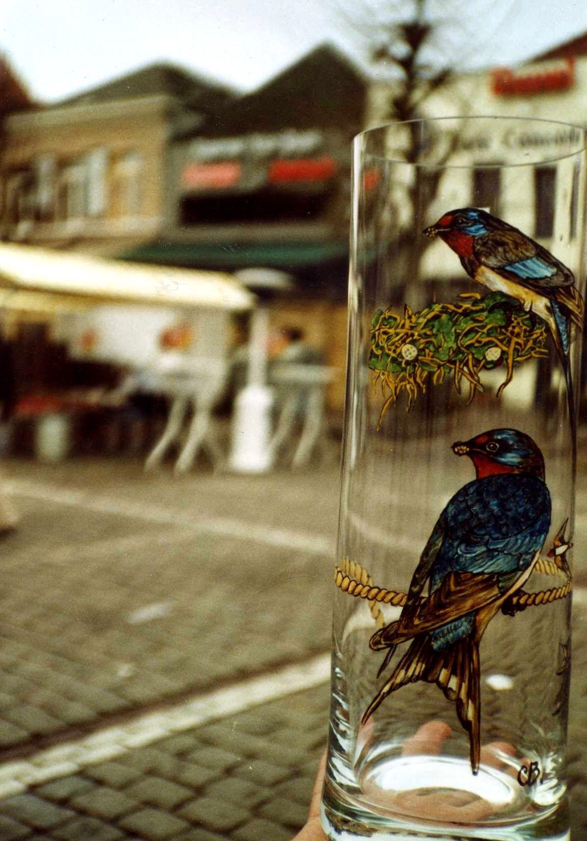 Oiseaux sur un vase