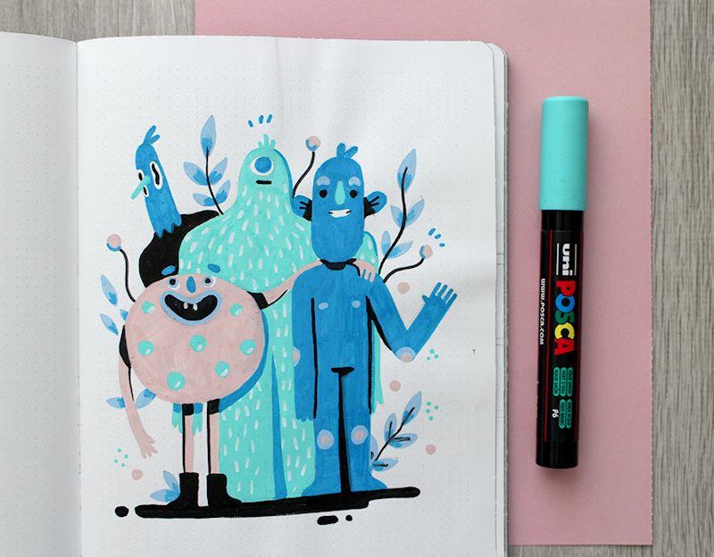 Sketchbook 2017 – Lienke Raben Illustration