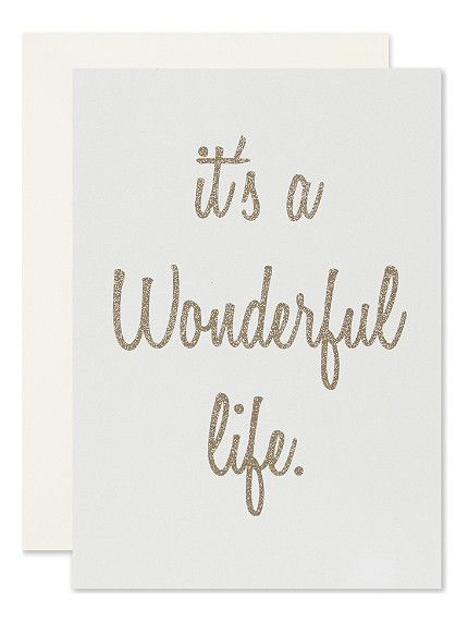 BOXED CARDS It's a wonderful life christmas cards set of six