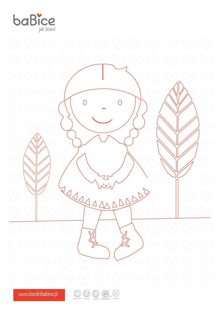 Babice Ausmalbild Malvorlage Mit Indianer Mädchen Für Kinder Süße