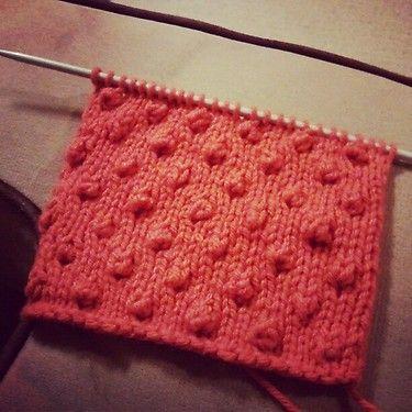 Shannon T Popcorn Stitch Easy To Knit Crafts Pinterest