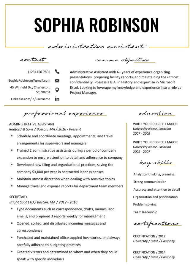 Westminster Gold Resume Rg Downloadable Resume Template Resume Templates Creative Resume Template Free