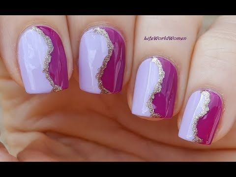 elegant purple toothpick nail art  youtube in 2020