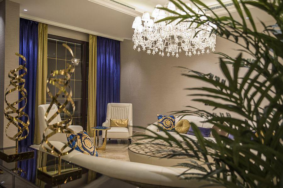 صالة الاستقبال E حياة لانتانا نموذج الفيلا House Front Design Home Decor Design