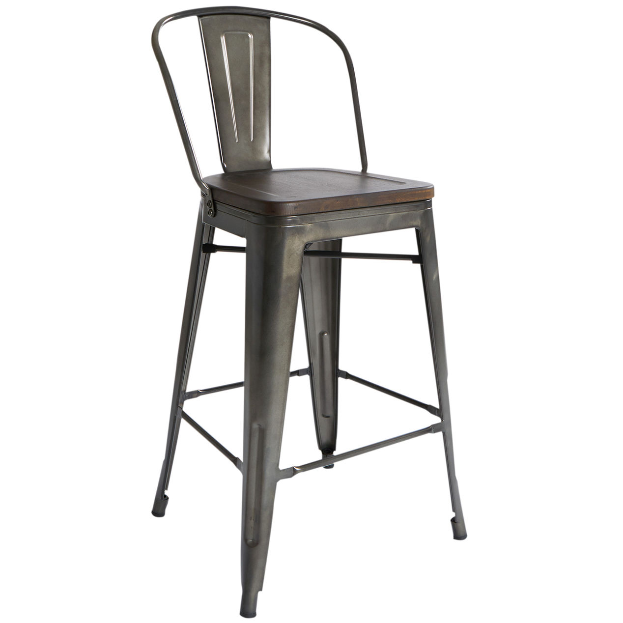 Dublin Wood And Metal Counter Stool Counter Stools Bar Stools