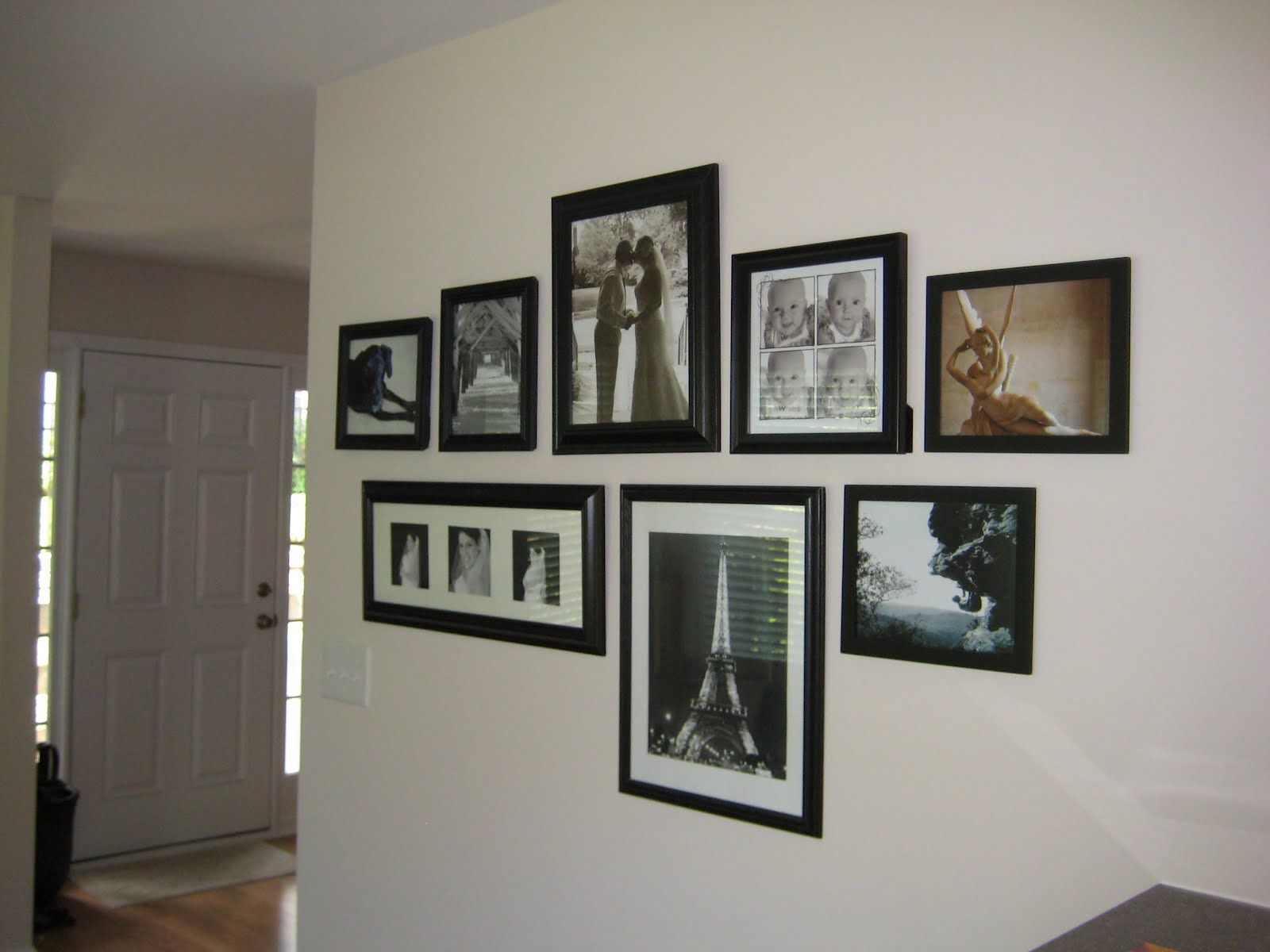 Black And White Photo Wall Arrangements - Traded Out Old