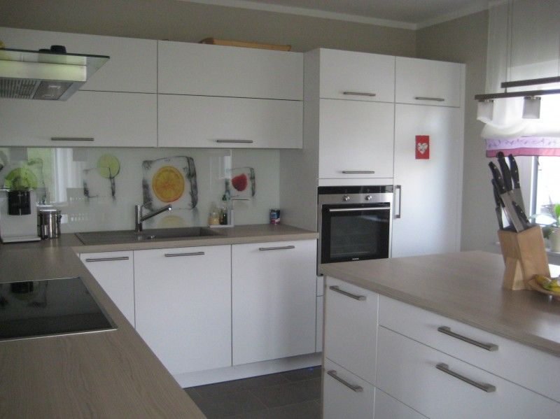 Unsere neue Küche ist fertig. Der Hersteller ist: Schüller - Monza ...
